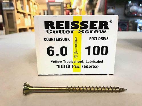6.0 x 100mm Reisser Cutter Wood Screw