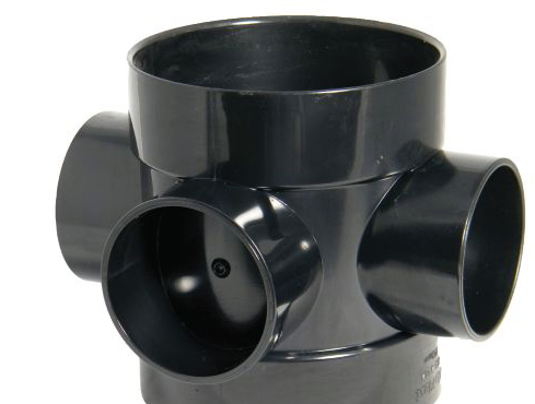 FLOPLAST RING SEAL SOIL BOSS PIPE SHORT (DIA)110MM, BLACK