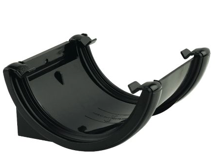 FLOPLAST HALF ROUND GUTTER UNION BRACKET (DIA)112 MM, BLACK