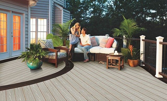 Ash White Heritage Composite Decking Witchdeck 3.6m