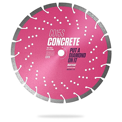 230mm CD15S CONCRETE DIAMOND BLADE - 1600 CUTS
