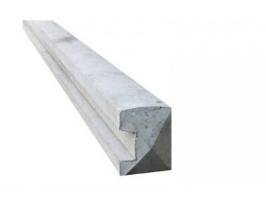 7' End Slotted Concrete Fence Post
