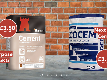Our cement is still only £3.50ex.vat!