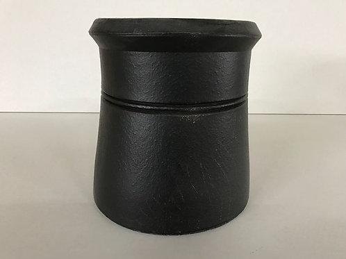 "300mm (12"") Cannon Head Chimney Pot Black"