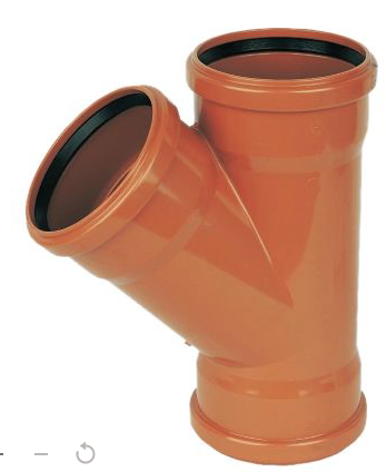 45º DOUBLE SOCKET FLOPLAST UNDERGROUND DRAINAGE JUNCTION (DIA)110MM