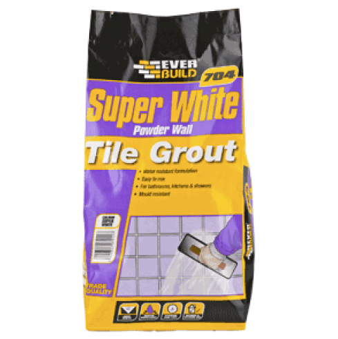704 Super White Powder Wall Tile Grout
