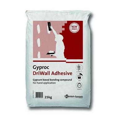British Gypsum Gyproc Dri-wall Adhesive 25kg