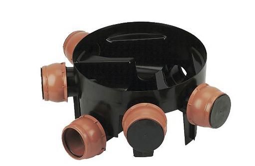 FLOPLAST BLACK 0-20° INSPECTION CHAMBER (DIA)450MM (H)270MM