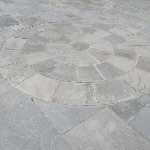 Kandla Grey Promenade 2.4m Sandstone Circle inc sq.off Kit