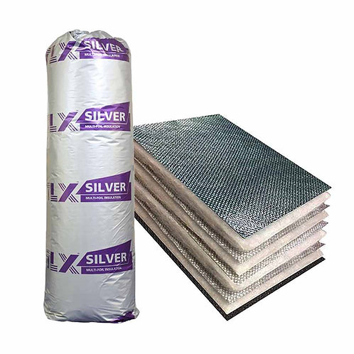 TLX Silver Multi Foil Insulation 30mm 1.2 x 10m