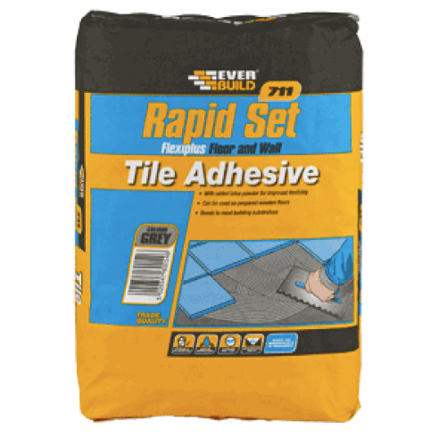 711 Rapid Set Flexiplus Tile Adhesive 10KG