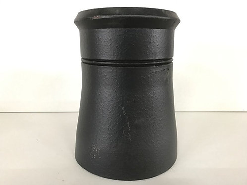 "375mm (15"") Cannon Head Chimney Pot Black"