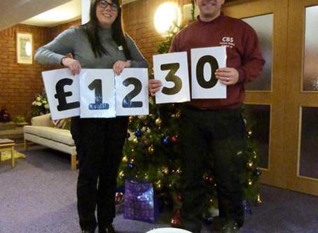 £1230 raised for Eden Valley & Jigsaw Hospice