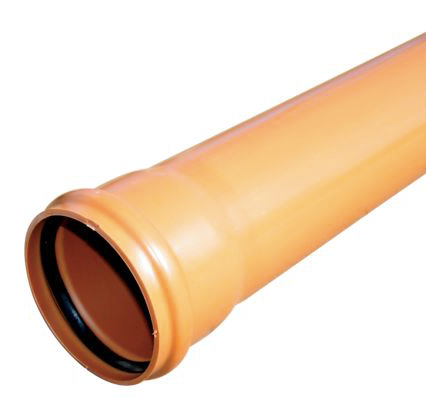 6M FLOPLAST UNDERGROUND DRAINAGE SOCKETED PIPE (DIA)110MM, TERRACOTTA