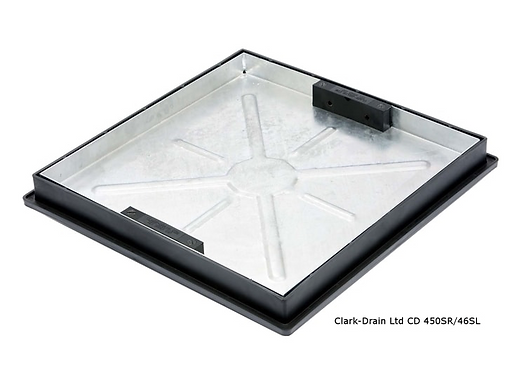 CD 450SR/46SL  RECESSED SQ - RND COVER & FRAME 450 X 450MM