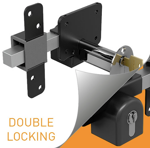 "Gatemate® Euro Profile Long Throw Lock (Single Locking with Thumb Turn) 2¾"" 70mm"