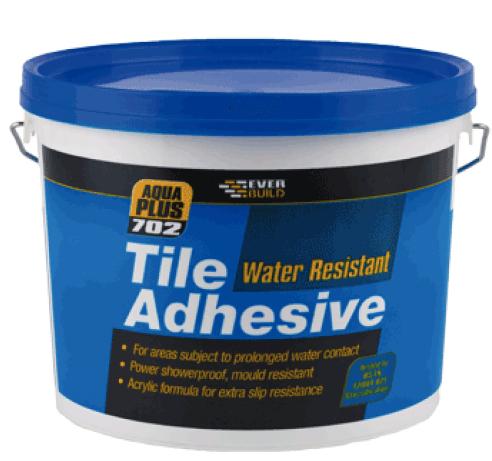 702 Water Resistant Tile Adhesive 10L