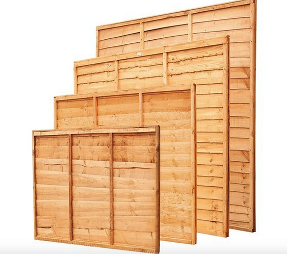 6 x 5' Larch Lap Fence Panel