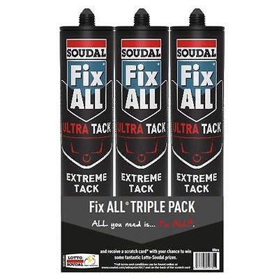 Soudal Fix All Ultra Tack - Triple Pack