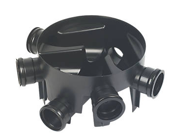 FLOPLAST BLACK INSPECTION CHAMBER (DIA)450MM (H)270MM