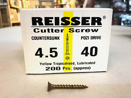 4.5 x 40mm Reisser Cutter Wood Screw