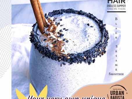 Black Sesame & Coconut cream Smoothie 🥥
