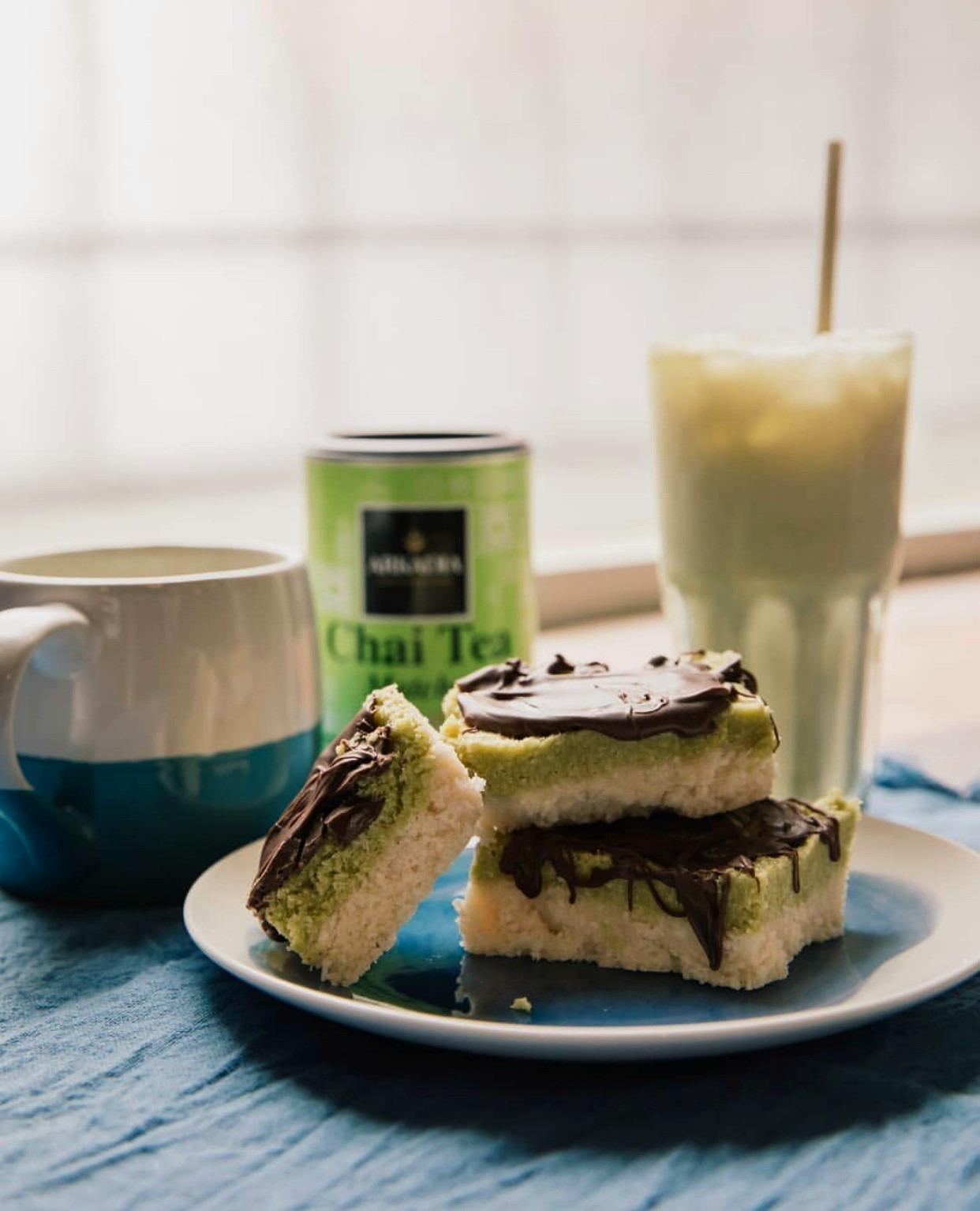 Matcha Vanilla Slice