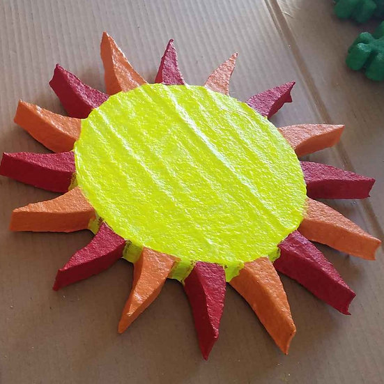 Painted Sun Stucco Art