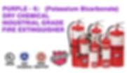 Purple - K (Potassium Bicarbonate Dry Chemical Industrial Grade Fire Extinguishers