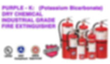 We offer Purple - K (Potassium Bicarbonate) Dry Chemical Fire Extinguishers are rated for Class B Flammable Liquid Hazards & Class C Energized Electrical Hazards