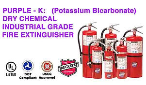 Purple - K (Potassium Bicarbonate Dry Chemical Industrial Grade Fire Extinguishers