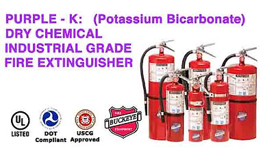 We offer Purple K for use on Flammable Liquid (Class B) & Energized Electrical (Class C) Hazards