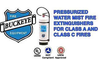 Pressurized Water Mist Fire Extinguishers for Class A & Class C Fires