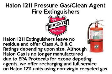 Halon 1211 Pressure Gas Clean Agent Fire Extinguishers