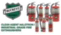 Clean Agent Halotron I Industrial Grade Fire Extinguishers