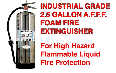 We offer AFFF (Aquous Film Forming Foam) that are excellent for Class A & B Flammable liquids