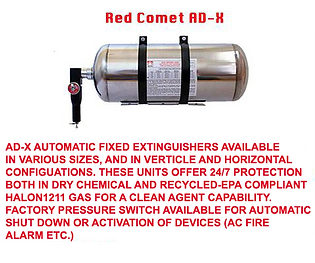 We offer Ad-X Automatic Extinguishers for Total Flood and Spot Protection