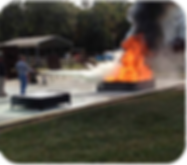 """We offer Fire Safety Training for your employees using """"Live Fire"""" Instruction at your place of business for State, Federal, and Insurance Carrier Safety requirements"""