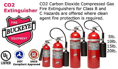 Co@ Carbon Dioxide Compressed Gas Fire Extinguishers for Class B & C Hazards