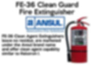 FE-36 Clean Guard Fire Extinguishers which leave no residue