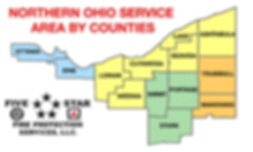 NORTHERN OHIO SERVICE AREAS BY COUNTIES.