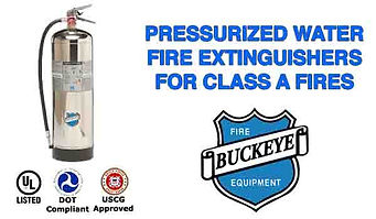 Pressurized Water Fire Extinguishers for Class A Fires