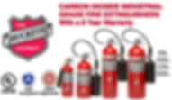 We offer Carbon Dioxide Compressed Gas (clean Agent) for fire protection for Class B (Flammable Liquid Fires) and Class C (Energized Electrical Fires)