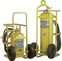 We offer Halotron I Wheeled Extinguishers for High Hazard Clean Agent Fire Protection
