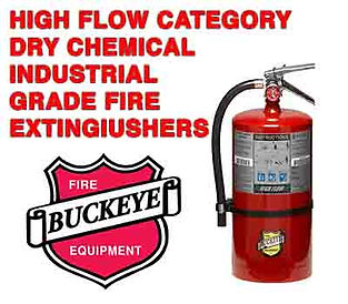We offer High Flow Dry Chemical Fire Extinguishers which are mandatory use on Pressurized Gas, or 3-Dimensional fires