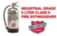 "Class ""K"" Wet Chemical Extinguishers for kitchen grease fires"