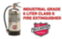"""Class """"K"""" Wet Chemical Extinguishers for kitchen grease fires"""