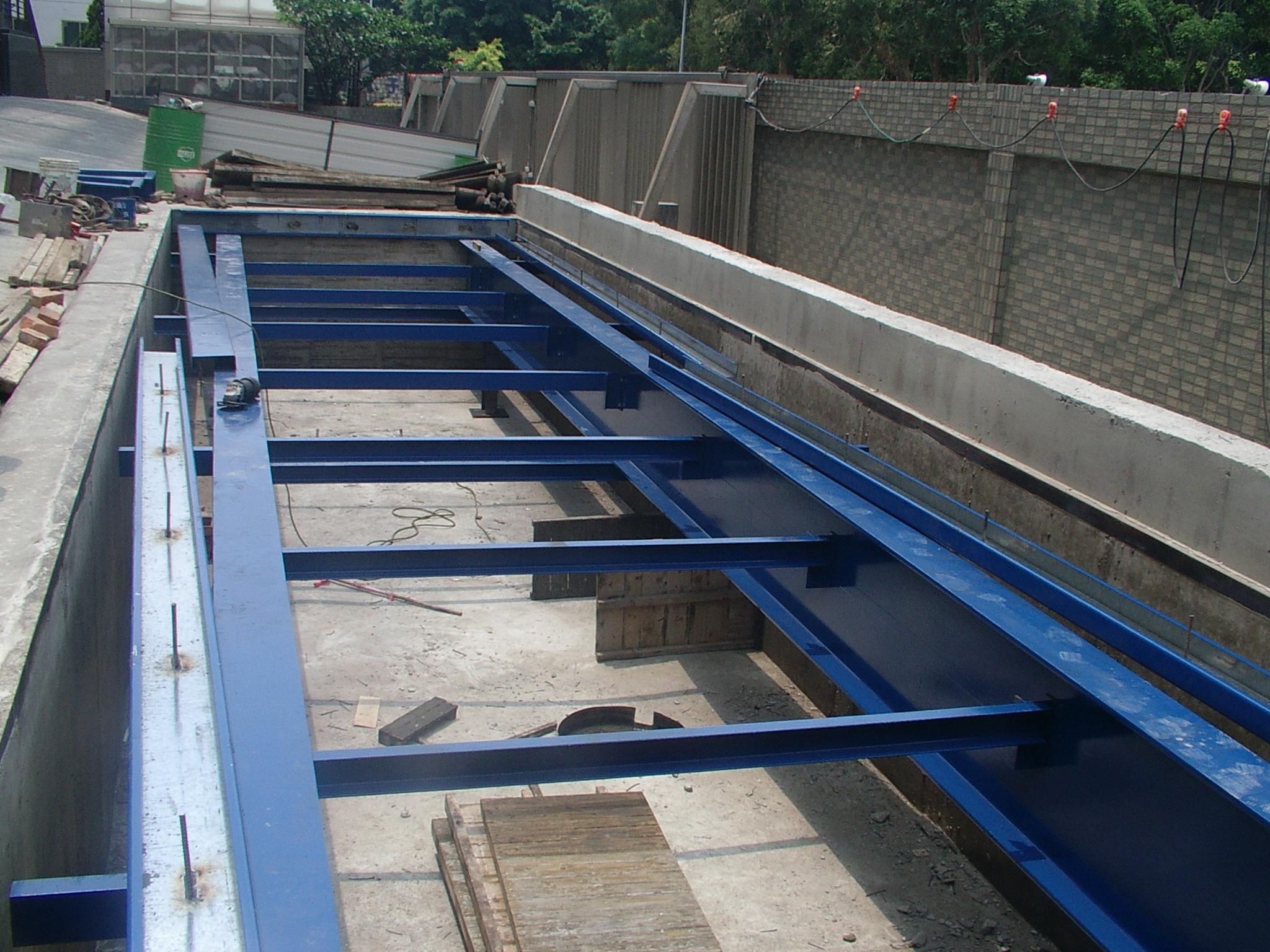大型地磅鋼樑結構