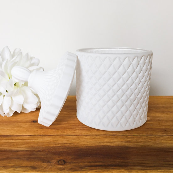 Matte White Large Geo Candle