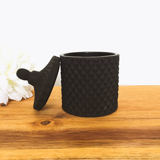 Matte Black Medium Geo Candle